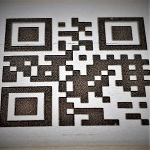 2D kód označený laserem