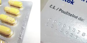 Značení lékových krabic a blistrů
